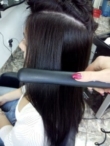 Straighten your hair with straightener
