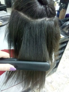 Straight your hair with titanium hair straightener
