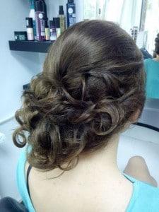Girl with Bun Hair style