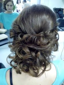 Girl with Curly Bun
