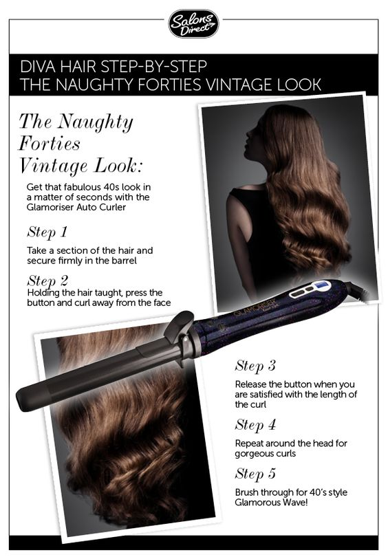Automatic hair curler tutorial