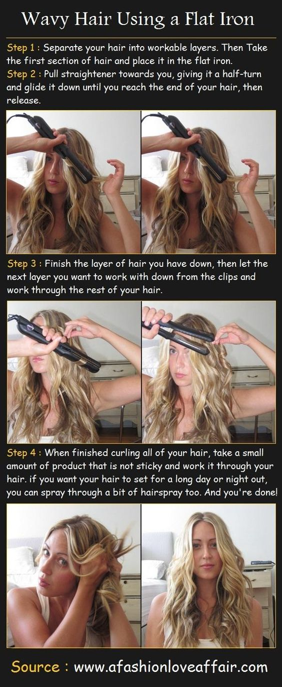 How to get wavy hair with a straightener