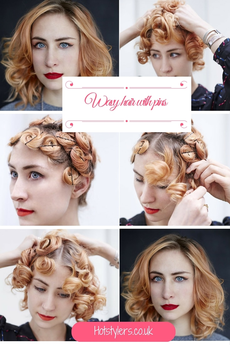 How to get wavy hair with pins