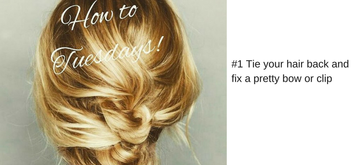 #3 Tie your hair back and fix a pretty bow or clip (1)