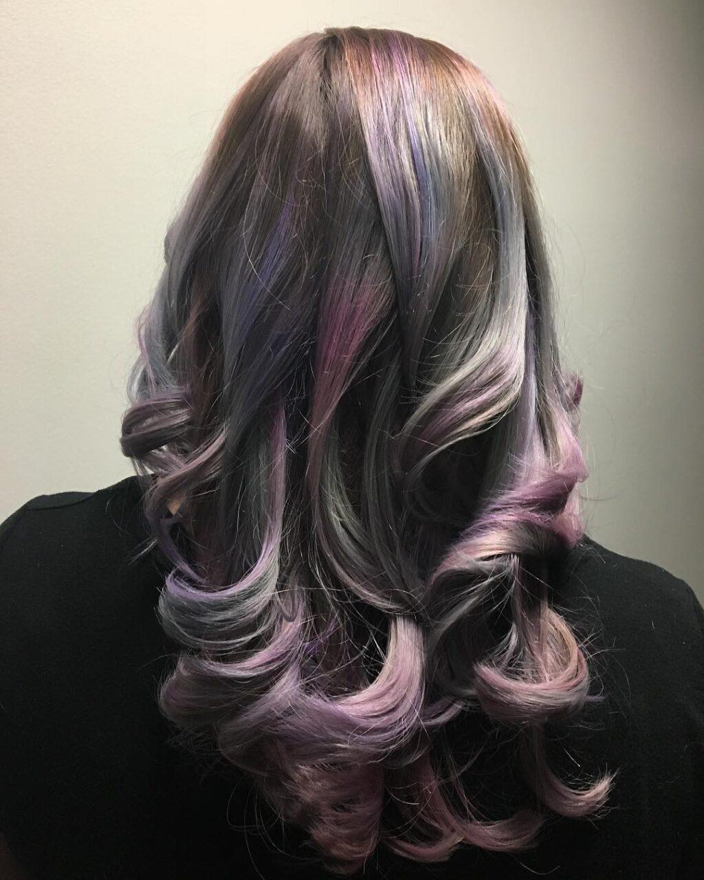 Oil slick hair blonde